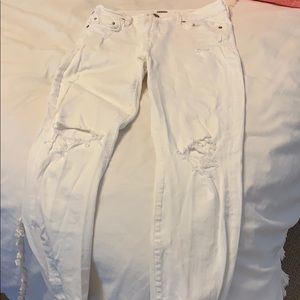 Citizen white distressed jeans